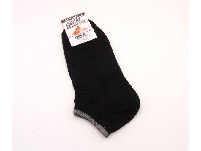 Ponožky P048 černé s proužkem