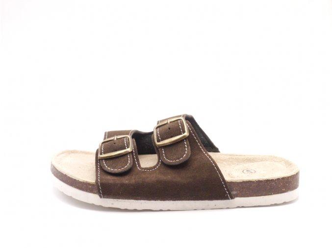 Domácí pantofle m2242 hnědé
