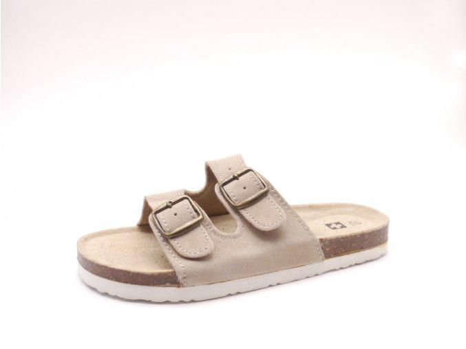 Domácí pantofle m2242 béžové