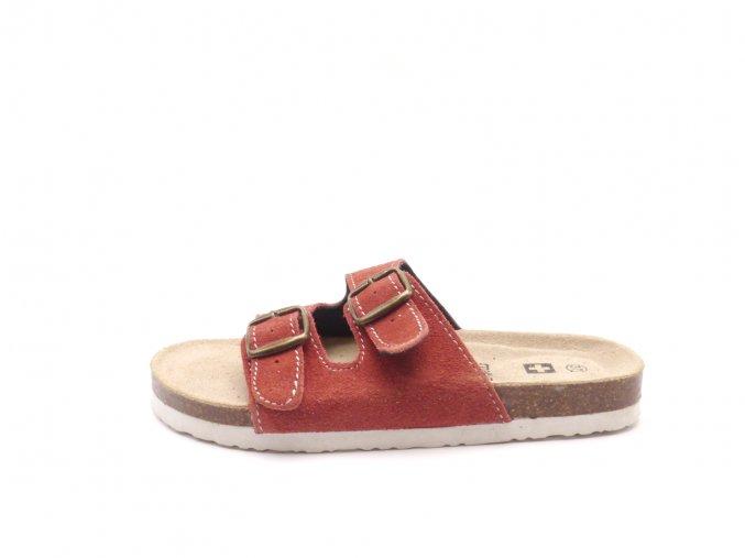 Domácí pantofle m2242 červené