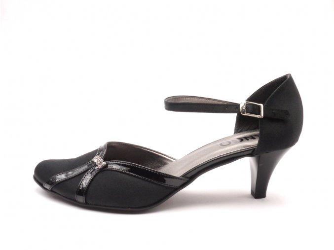 Dámská elegantní plesová obuv 145-sl - černá