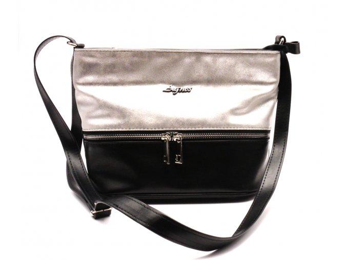 Černo stříbrná kabelka 01-85