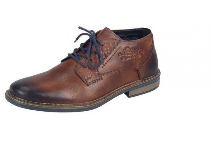 Pánská šněrovací elegantní obuv s textilní vyteplenou podšívkou 17643-24