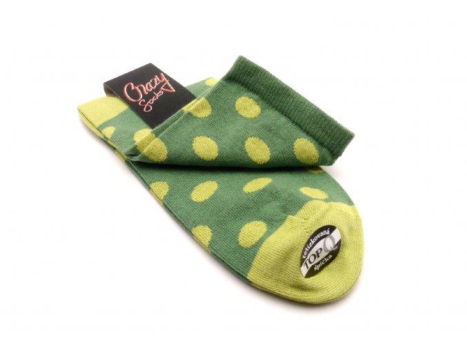 Ponožky kolečka zelená