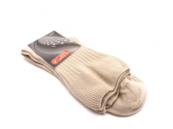 Ponožky béžové extra jemný svěr