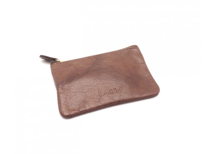 Malá peněženka s klíčenkou K-2 BROWN