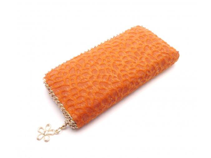 Chlupatá peněženka oranžová MCPVCH-12