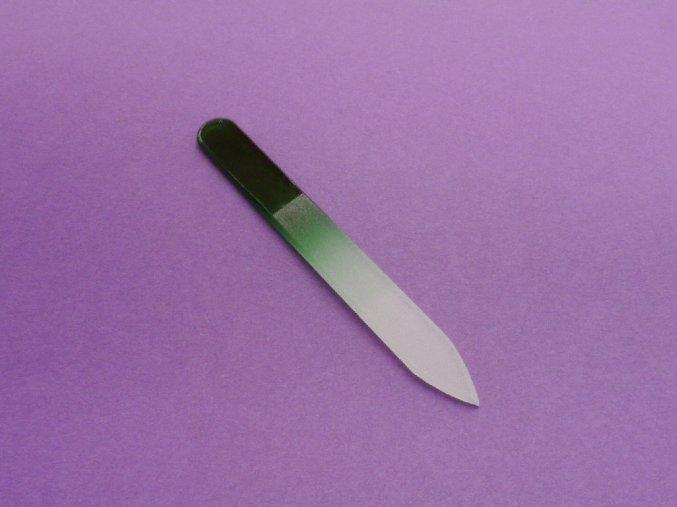 Skleněný pilník zelený