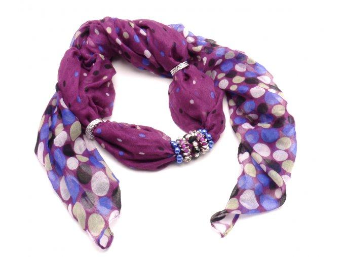 Šátek s ozdobou 17