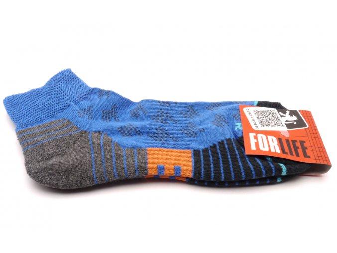 Ponožky Run  - modrý