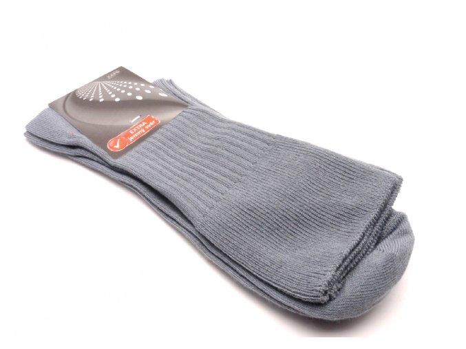 Ponožky šedé - střední extra jemný svěr