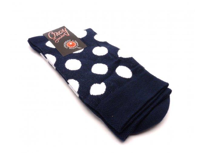 Ponožky kolečka velký - modrý základ