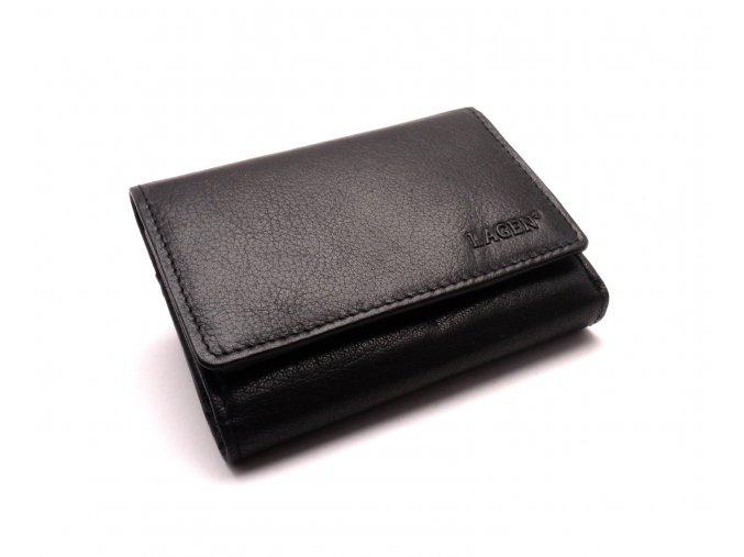 Dámská kožená peněženka lm-2520 BLACK