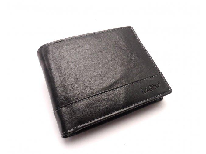 Pánská kožená peněženka v-76/t BLACK
