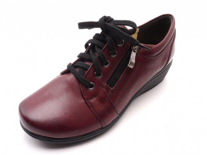 Elegantní obuv 611027 bordo
