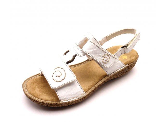 Dámské sandály v bílé barvě 65863-80