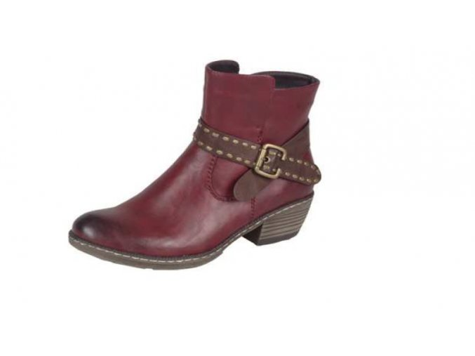 Dámská kotníčková obuv s ozdobným páskem 93775-35