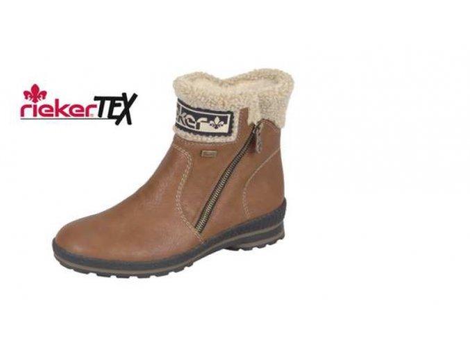 Dámská kotníčková obuv s ovečkou z2482-22