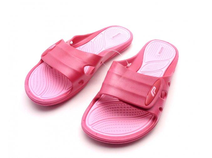 Dámské gumové pantofle ST7100-2 růžová