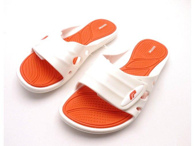 Dámské gumové pantofle ST7100-1 Bílá