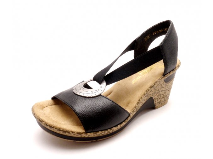 Dámská letní obuv na klínku 60662-00