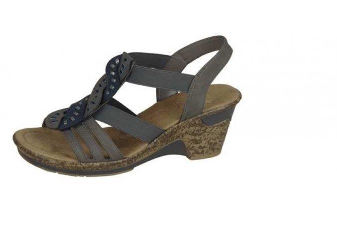 Dámské pohodlné sandály na klínku 60668-42