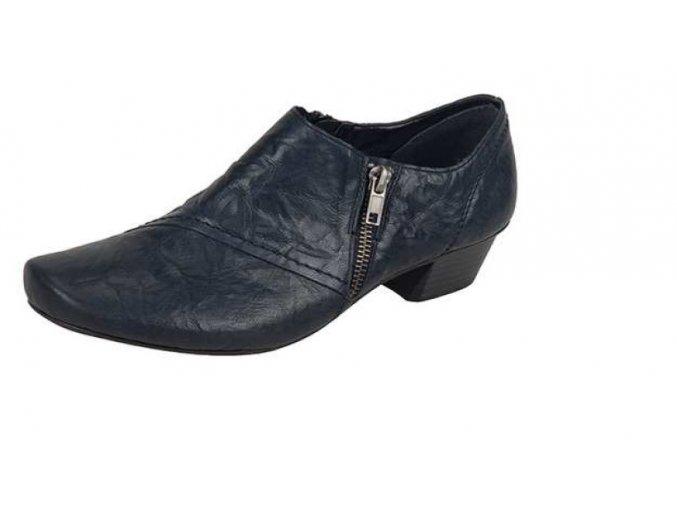 Dámská kožená obuv na nízkém podpatku 53851-15