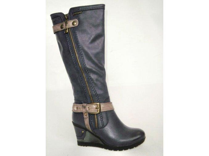 Dámská elegantní obuv na klínku km453043-0-19