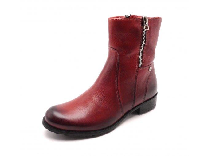 Dámské kotníkové boty červené A280-102-l