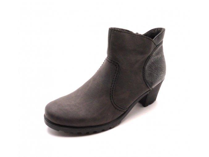 Dámské kotníkové boty s ozdobnou patou Y8060-46