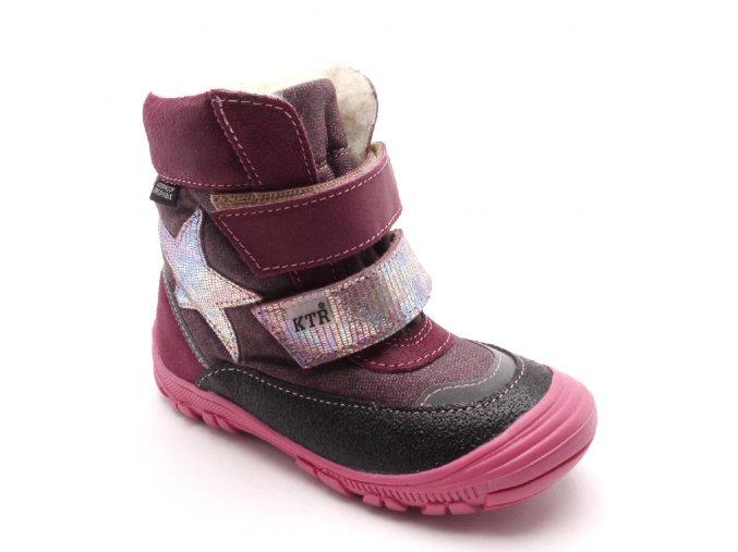 Dětská zimní kotníčková obuv 316/1/N2 Fuxia