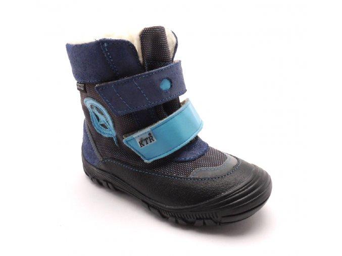 Dětská zimní kotníčková obuv 316/1/N2 Modrá