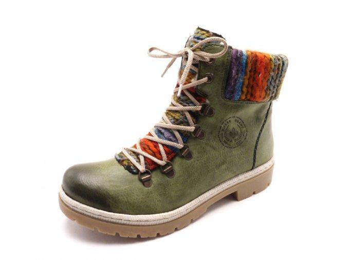 Dámské kotníkové boty s pleteninou y9432-52