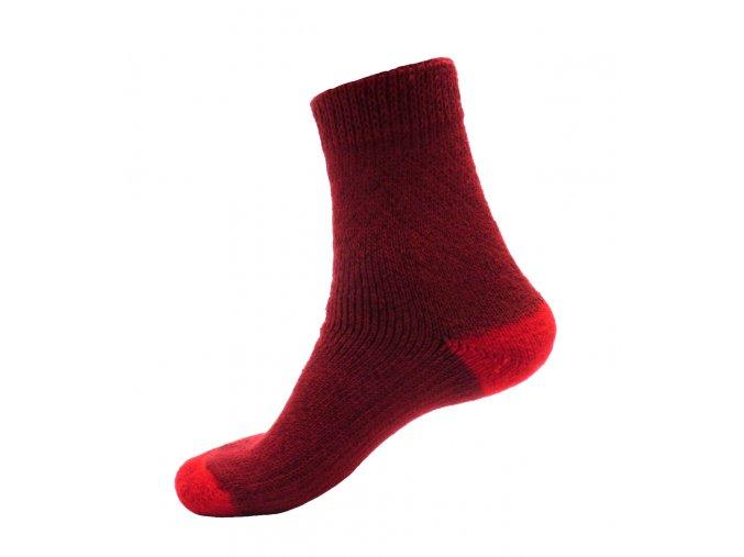 Ponožky Televizorky tmavě červená