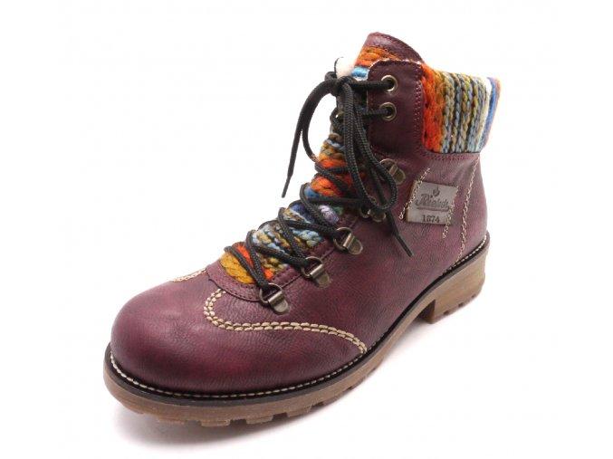 Dámské kotníkové boty s pleteninou Z0443-35