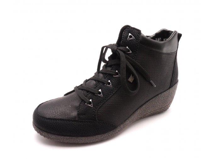 Dámská kotníková obuv na klínku M0340-00