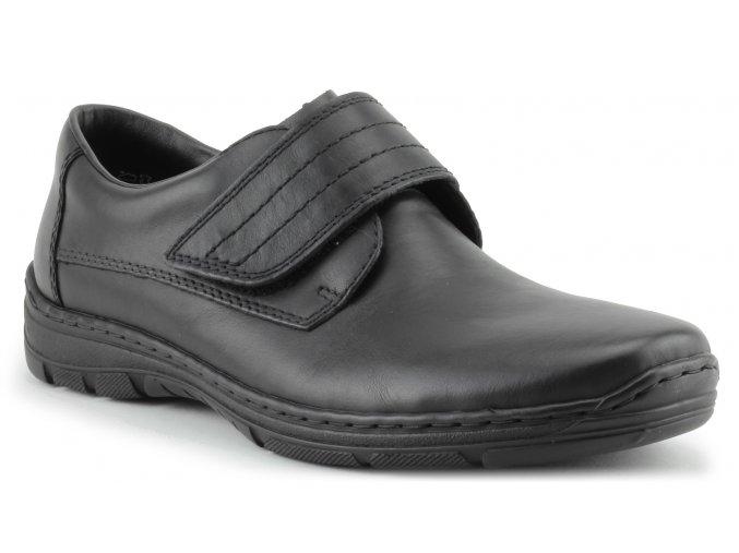 Pánská obuv se suchým zipem přes nárt 15262-00