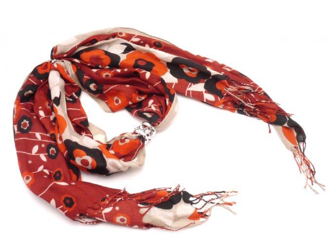 Šátek s ozdobou 21