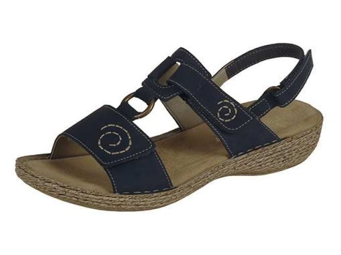 Dámské sandály v modré barvě 65863-15