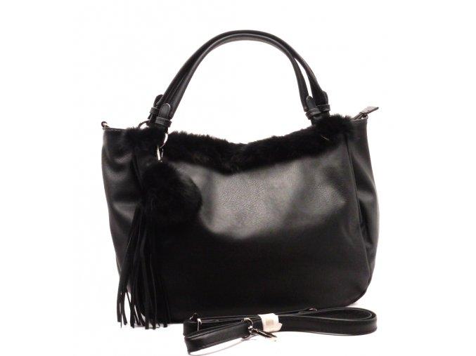 Elegantní dámská kabelka 13-55 černá K