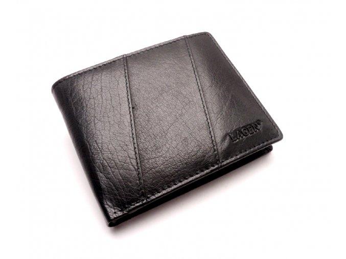 Pánská kožená peněženka PW-520 BLACK