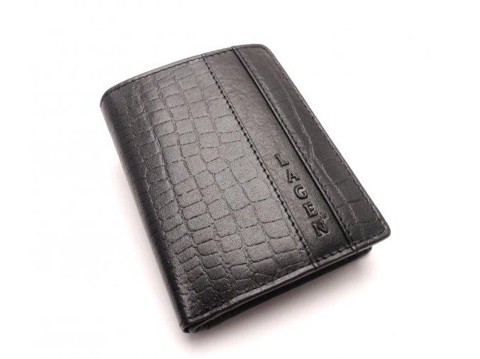 Pánská kožená peněženka 4019NC BLACK
