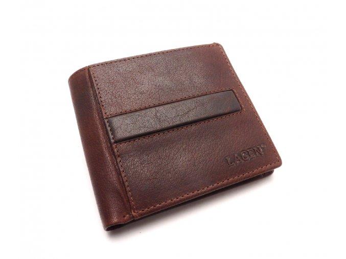 Pánská kožená peněženka PL-106 TAN