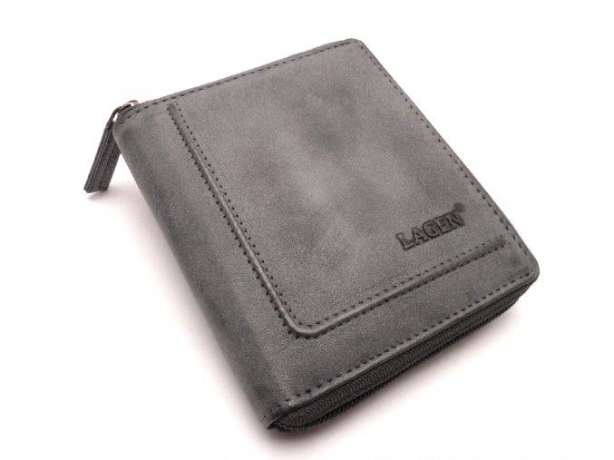 Pánská kožená peněženka na zip ADSW-6 SMOKY