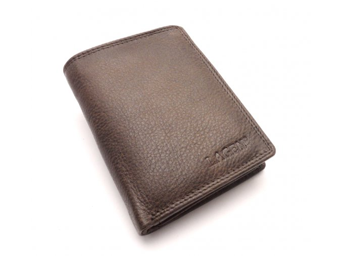 Pánská kožená peněženka 90752 DARK BROWN