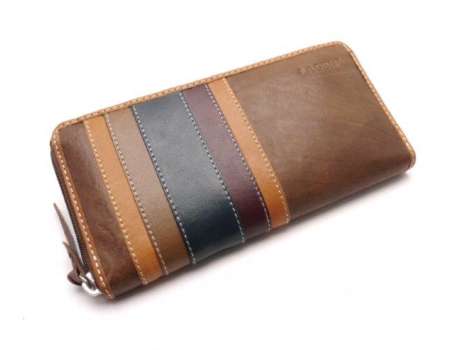 Dámská kožená peněženka 26513 BROWN/MULTI