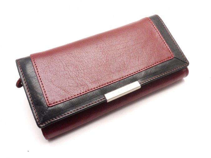 Dámská kožená peněženka LN/1844/614 RED/BLACK