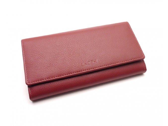 Dámská kožená peněženka TR-2114 DARK RED