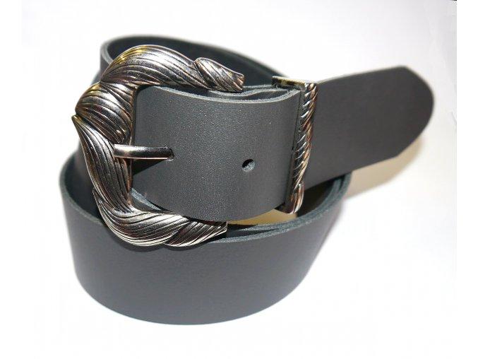 Dámský kožený opasek s velice zajímavou sponou VK3