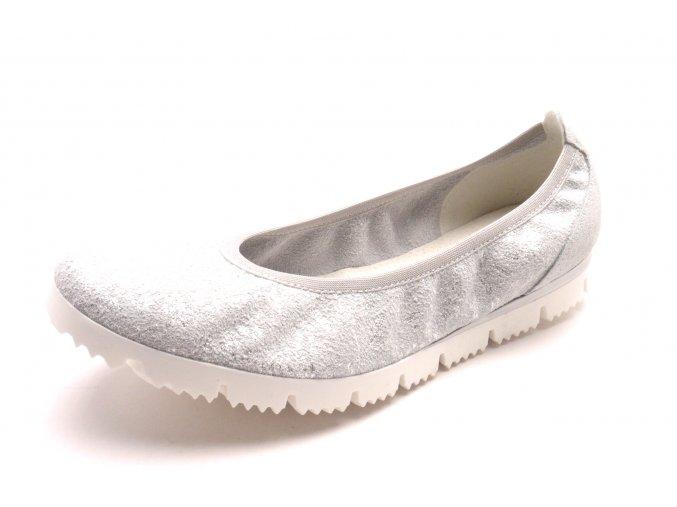 Dámské stříbrné baleríny 2-22127-20-221
